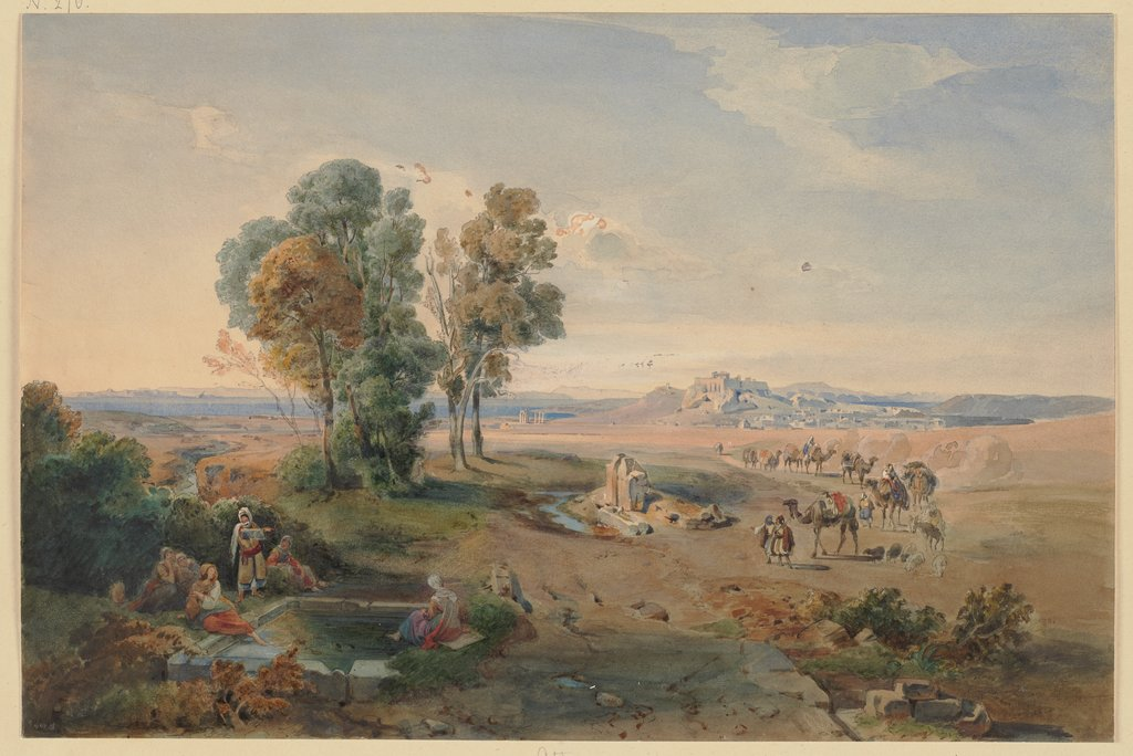 Athens, seen from the well, Carl Rottmann, Jakob Becker