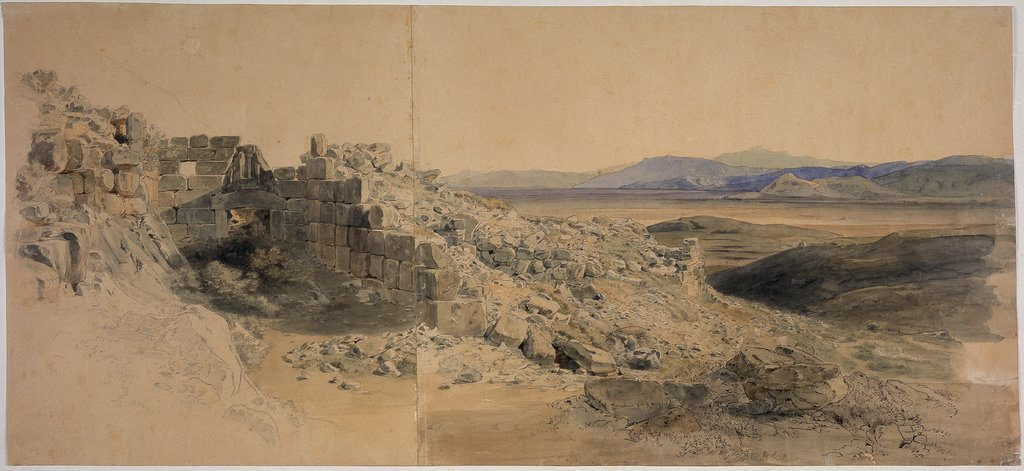 Lion gate in Mycenae, Carl Rottmann