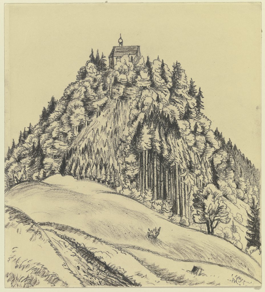 Church on a mountain, Adolf Weber-Scheld