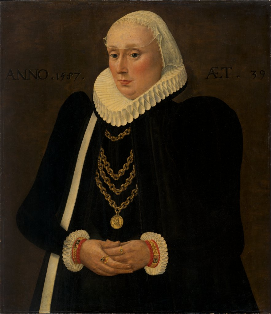 Portrait of Justina von Holzhausen, Middle-Rhenish Master of 1587