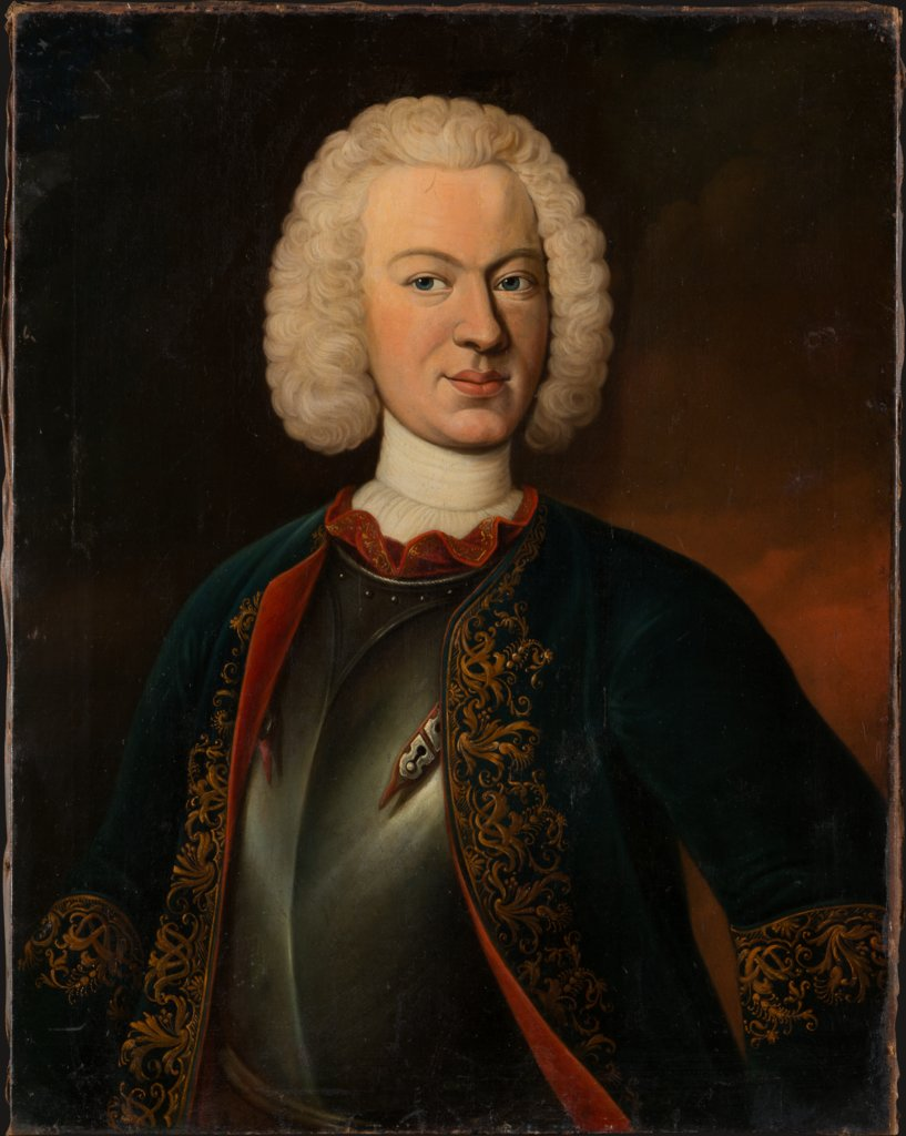 Portrait of Hieronymus Georg von Holzhausen (1726-1755), German Master around 1740/1750
