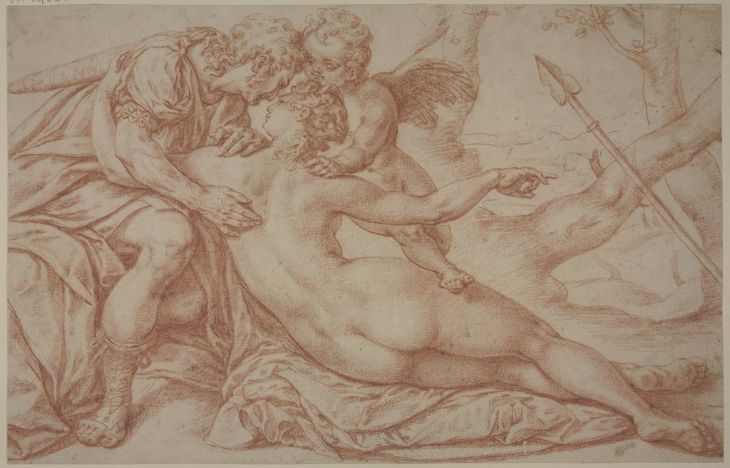 Venus, Cupid and Adonis, Bartholomäus Spranger