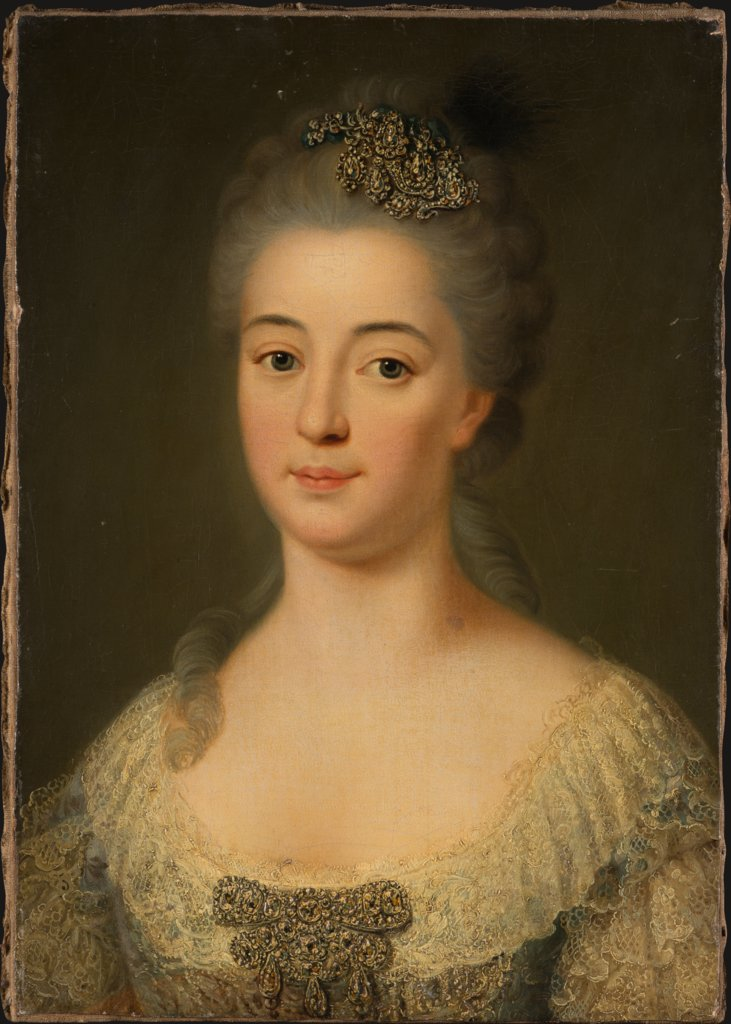 Portrait of Marie Friederike Caroline von Geispigheim, German (Hessian?) Master around 1750