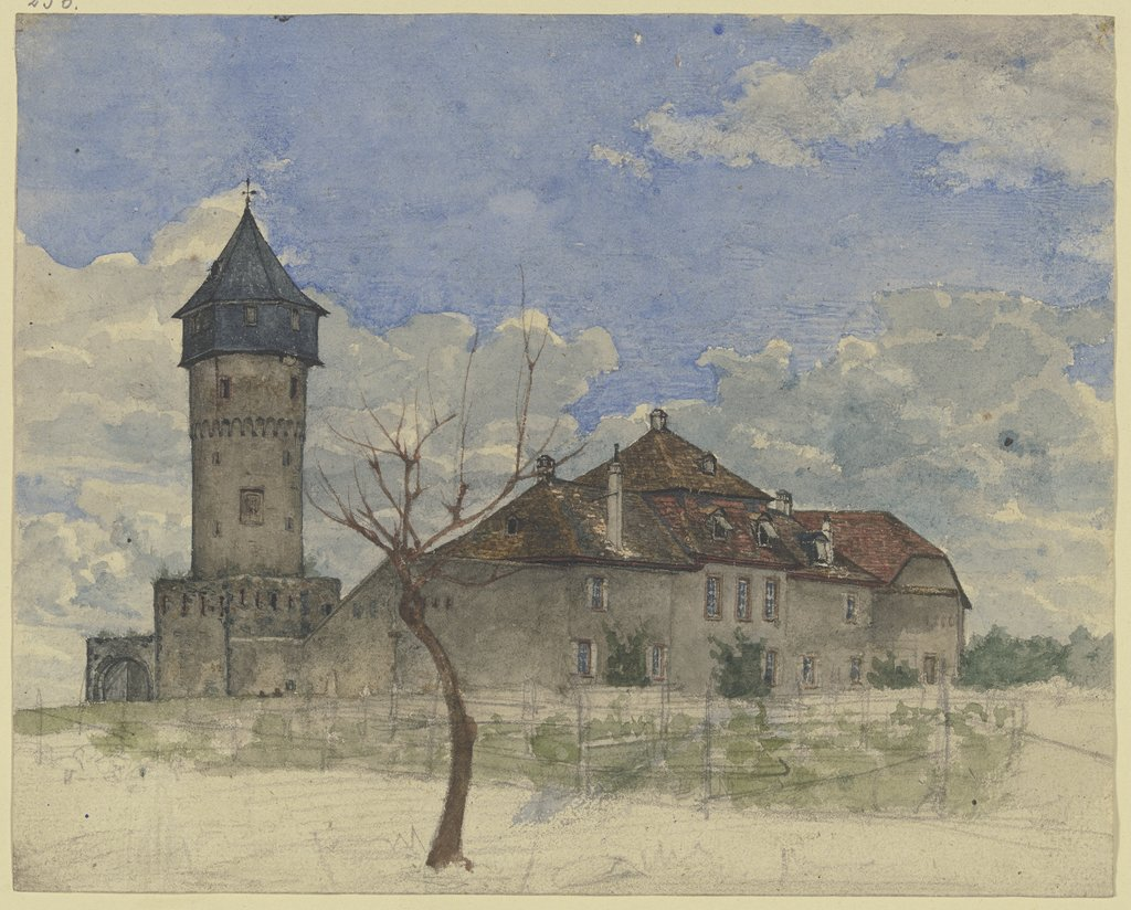The watchtower in Sachsenhausen, Heinrich Rumbler