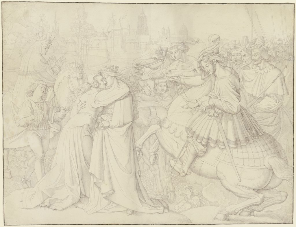 The Queens' greeting, Peter von Cornelius