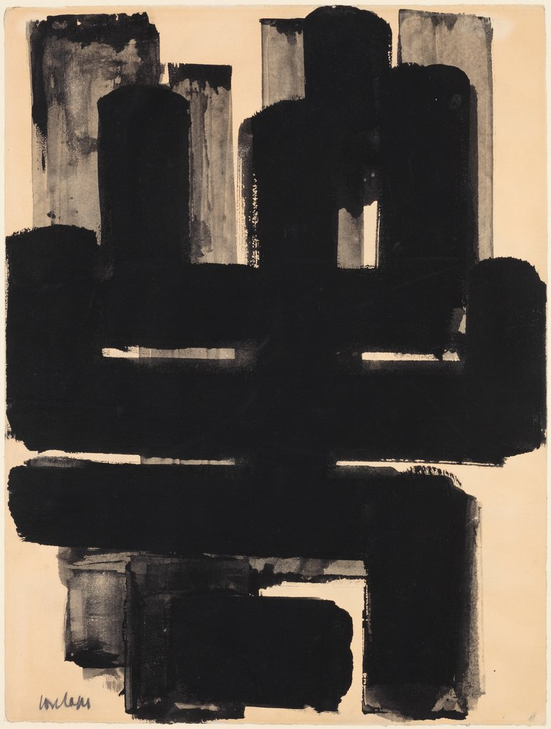 Composition, Pierre Soulages