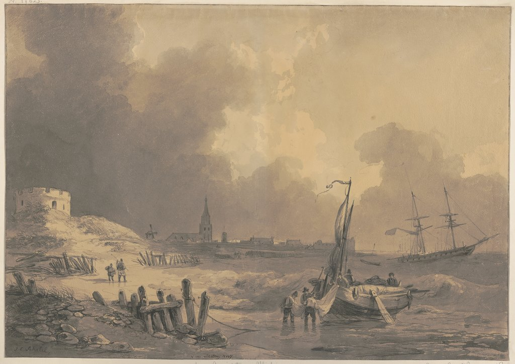 View of Vlissingen, Johannes Christiaan Schotel