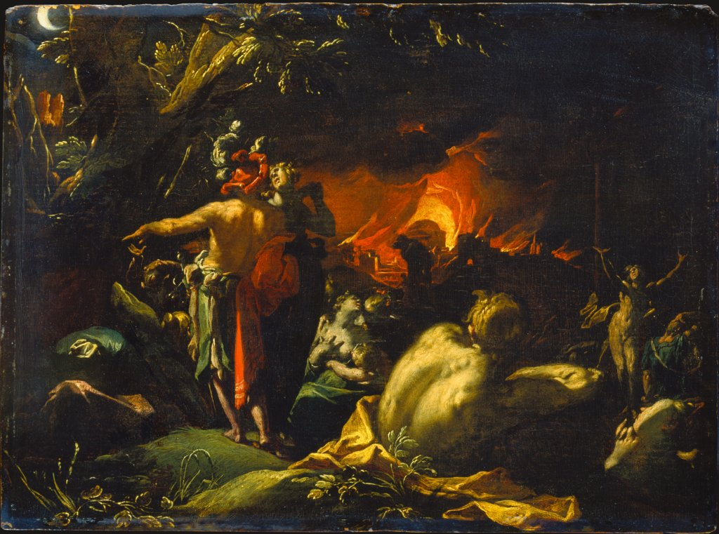 The Burning of Troy, Abraham Bloemaert