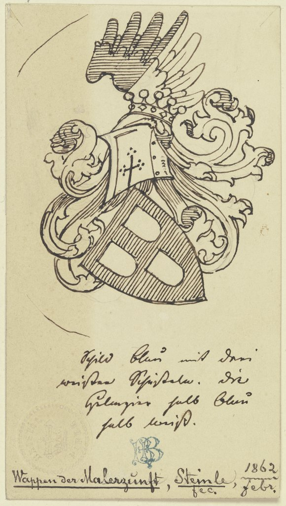 Coats of arms of the painters' guild, Edward von Steinle