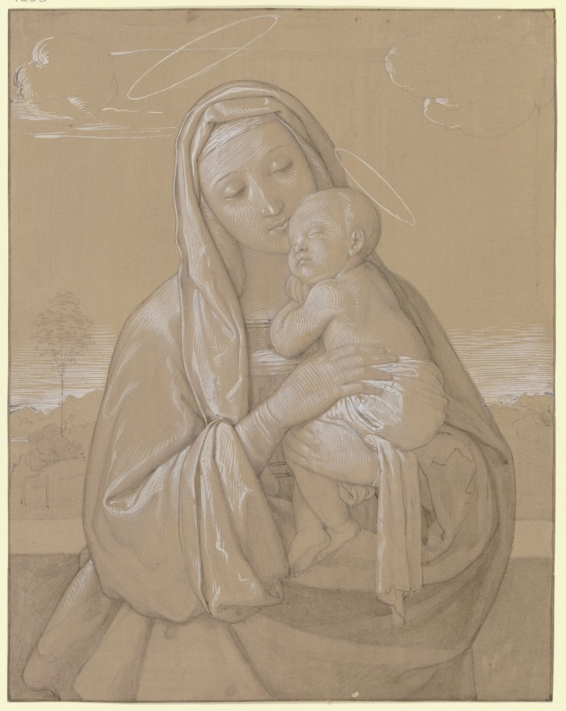 Madonna with child, Edward von Steinle
