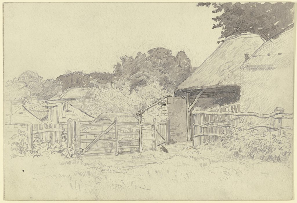 Farmstead with grove, Otto Scholderer