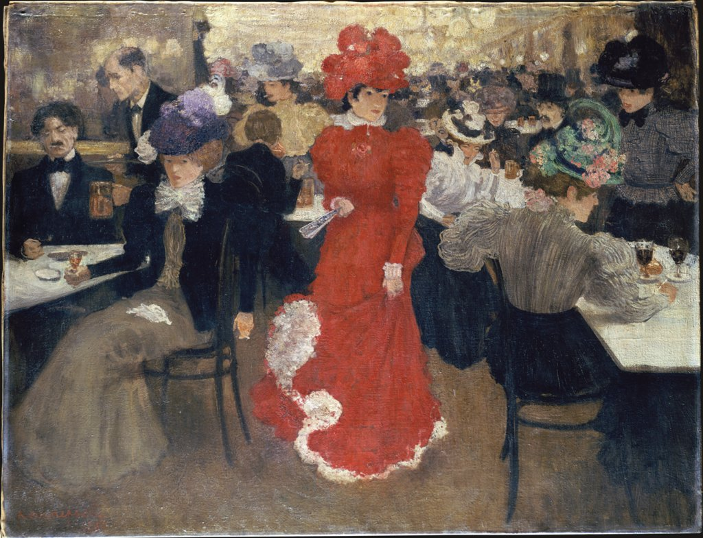 In the Café d'Harcourt in Paris, Henri Evenepoel