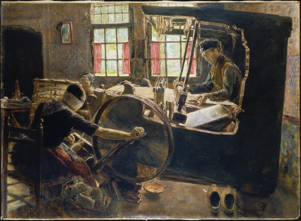 The Weaver, Max Liebermann