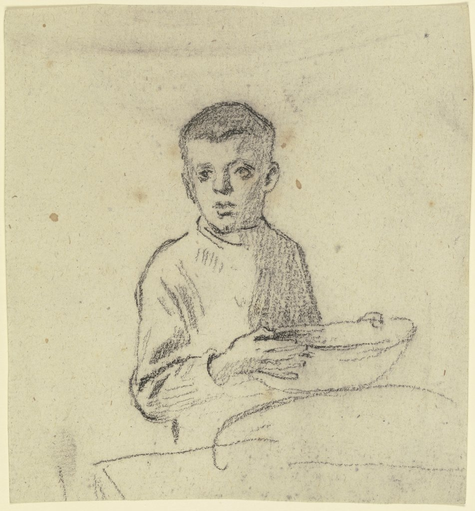 Boy with basket, Otto Scholderer