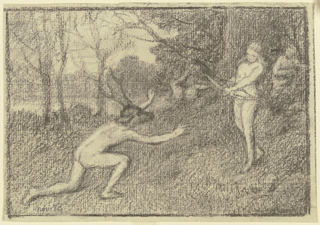 Diana and Actaeon, Otto Scholderer