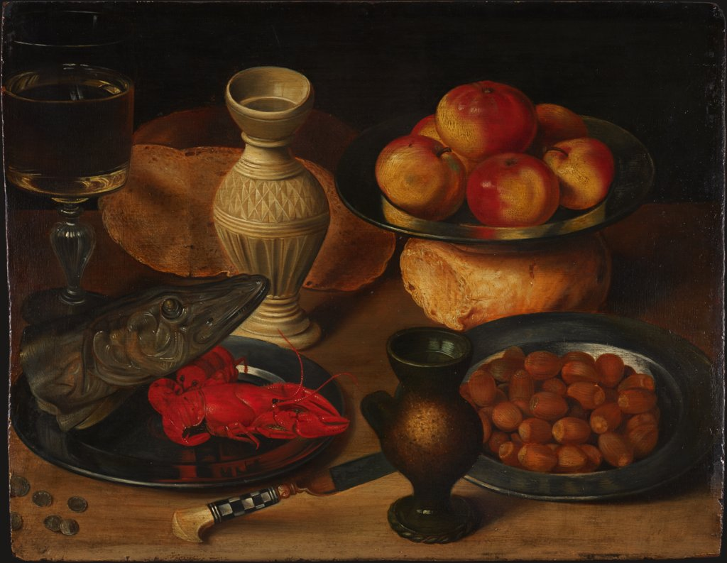 Still Life with Pike's Head and Hazelnuts, Georg Flegel