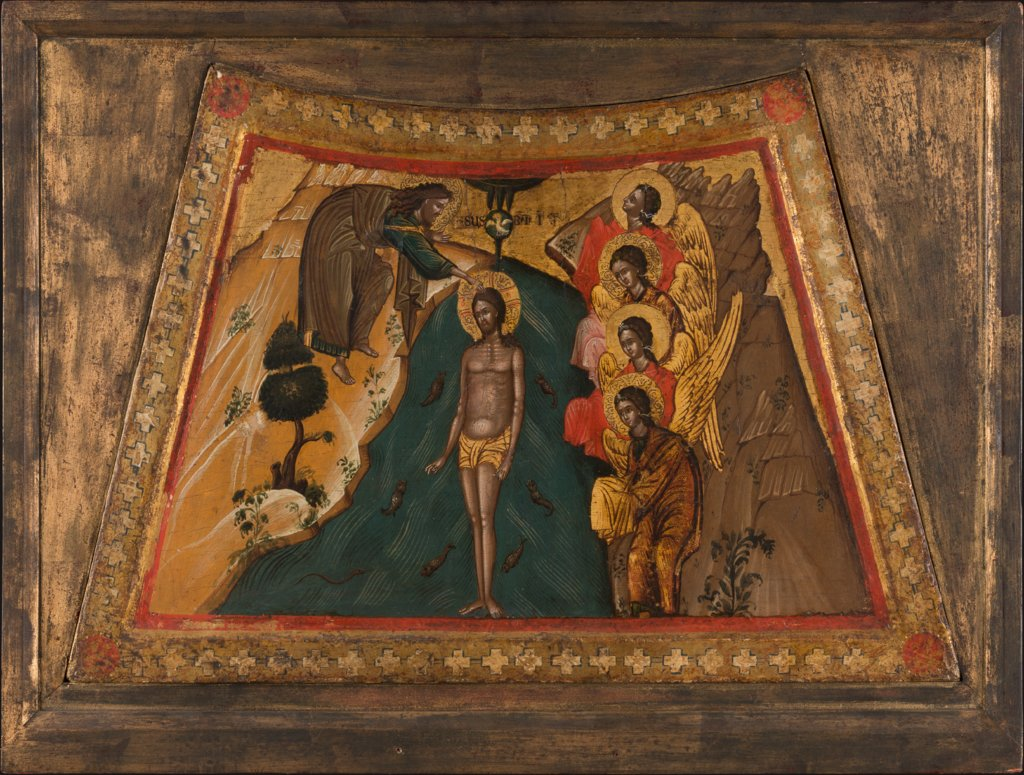 The Baptism of Christ, Veneto-Byzantine Master 15th century   ?