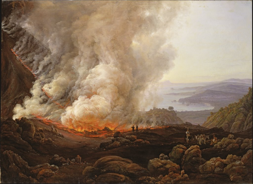 The Eruption of Vesuvius in December 1820, Johan Christian Clausen Dahl