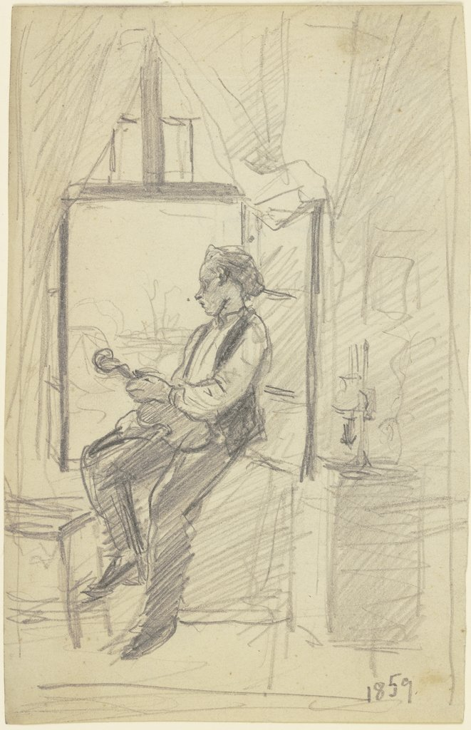 The violinist at the window, Otto Scholderer