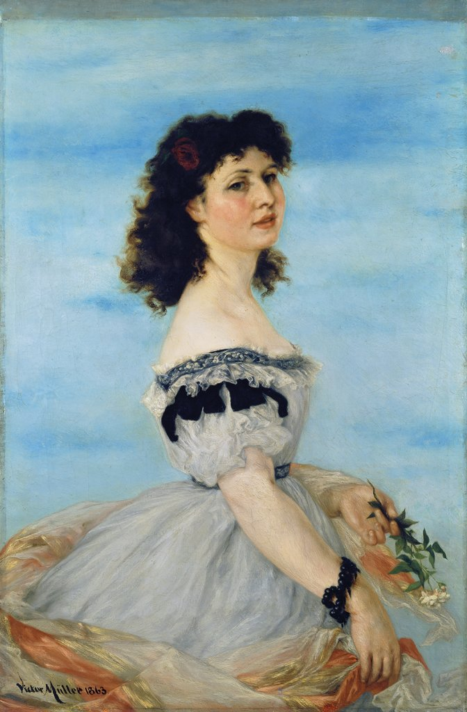 Portrait of Berta von Radowitz as a Young Girl, Victor Müller