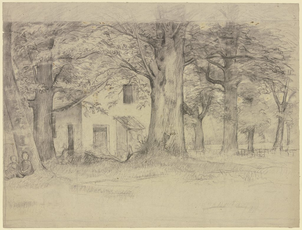 House behind trees, Otto Scholderer