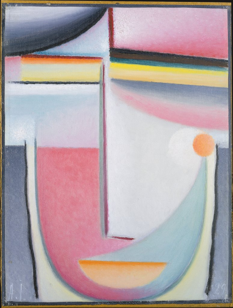 Abstract Head: Symphony in Pink, Alexej von Jawlensky