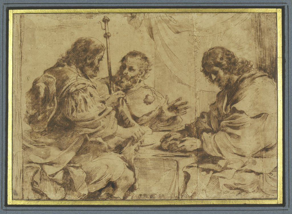 Christ in Emmaus, Guercino (Giovanni Francesco Barbieri)   ?