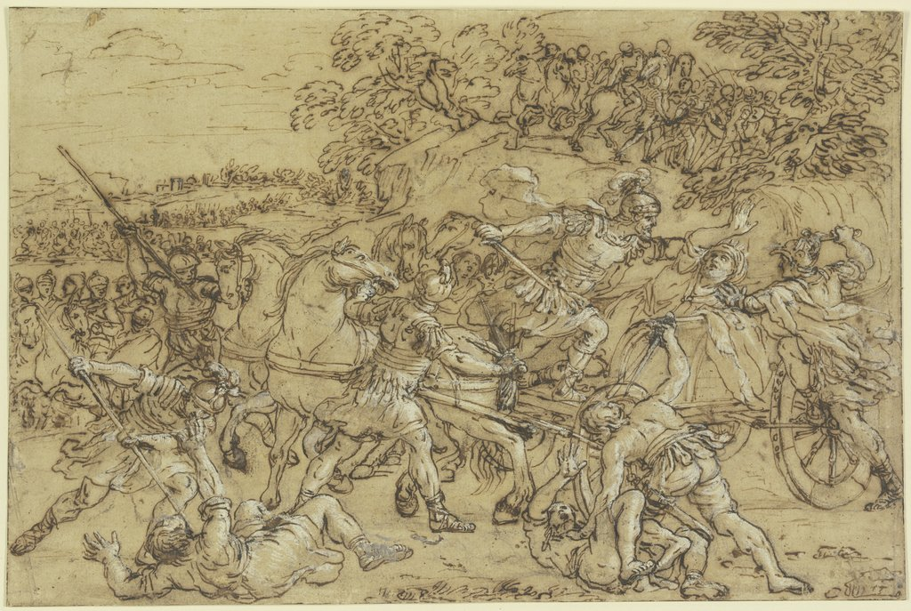 The Battle of Alexander at Issus, Pietro da Cortona
