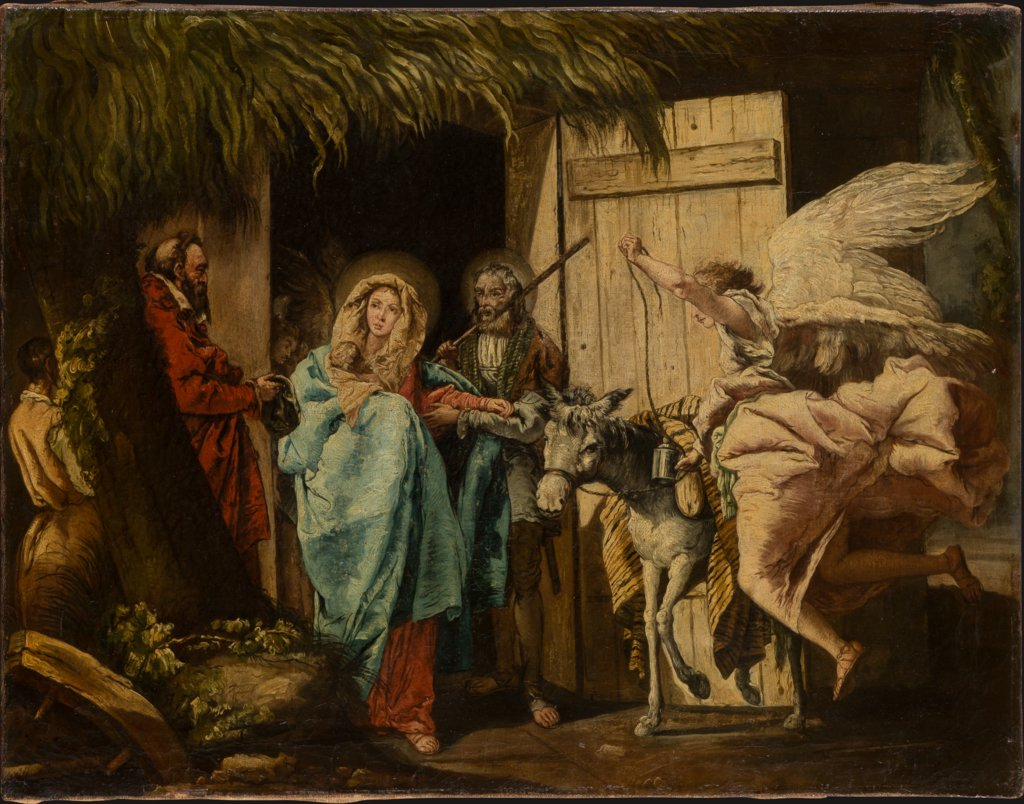 Departure for the Flight into Egypt, German (Franconian?) Master around 1750