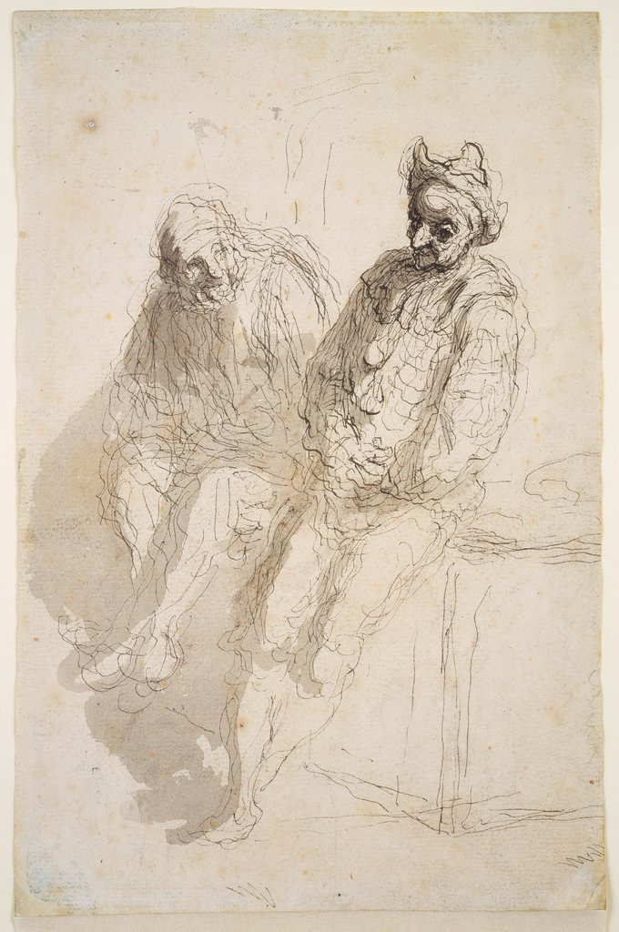 Two Saltimbanques, Honoré Daumier