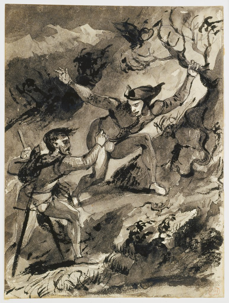 Faust and Mephistopheles on the Blocksberg, Eugène Delacroix