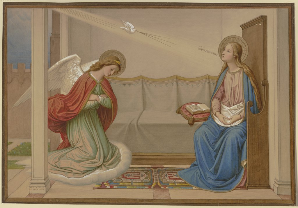 The Annunciation, Edward von Steinle, after Giotto di Bondone  succession