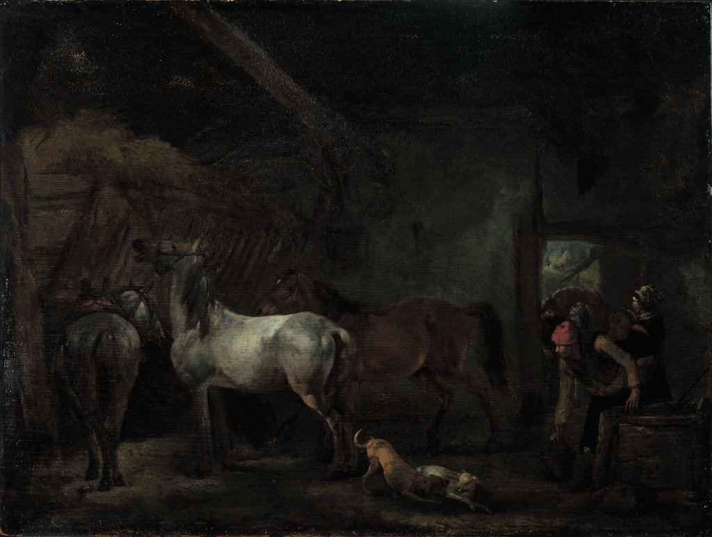 Stable with Three Horses, Philips Wouwerman, Philips Wouwerman  workshop ?