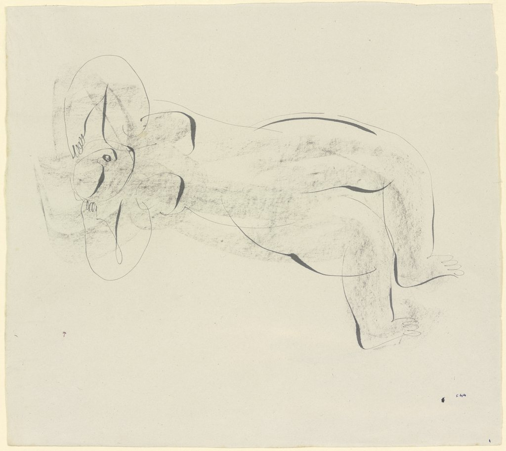 Reclined nude, Jean Fautrier
