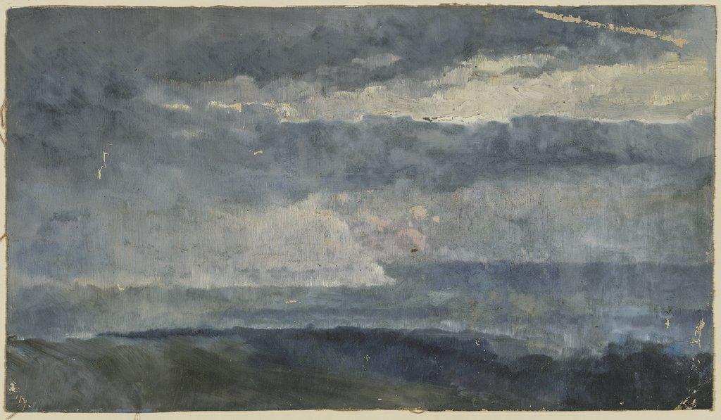 Oil study (clouds), Louis Eysen