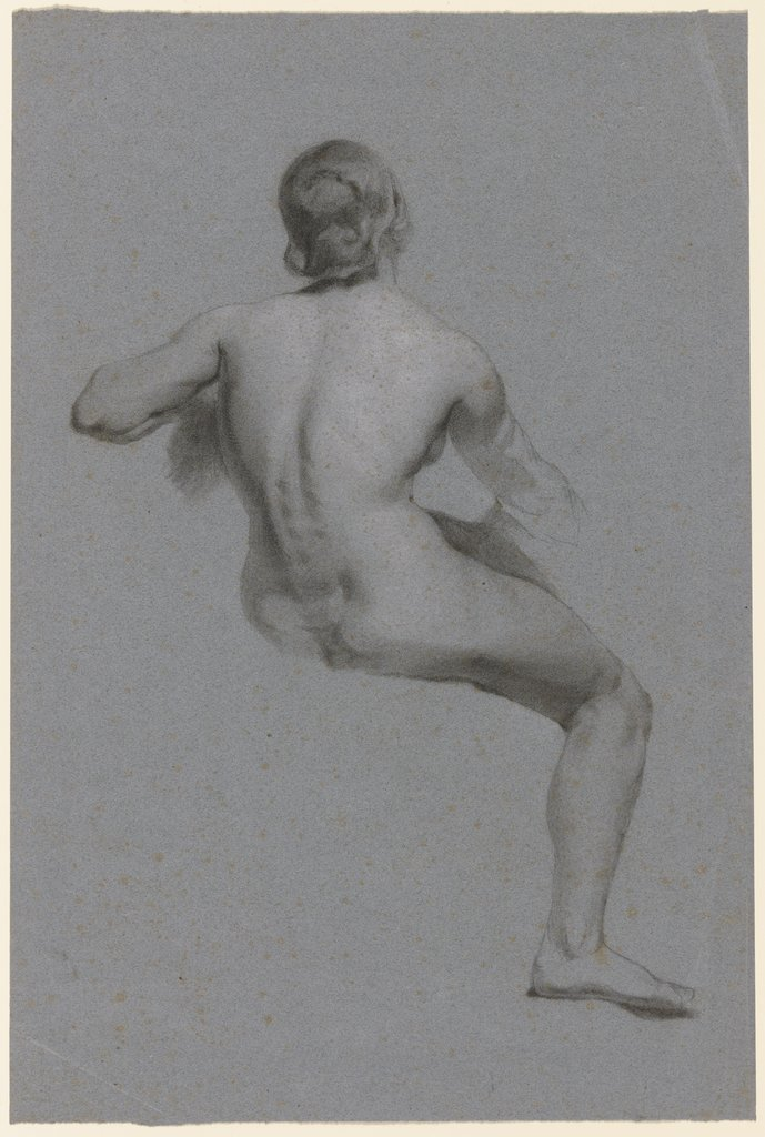 Female nude from behind, Louis Eysen