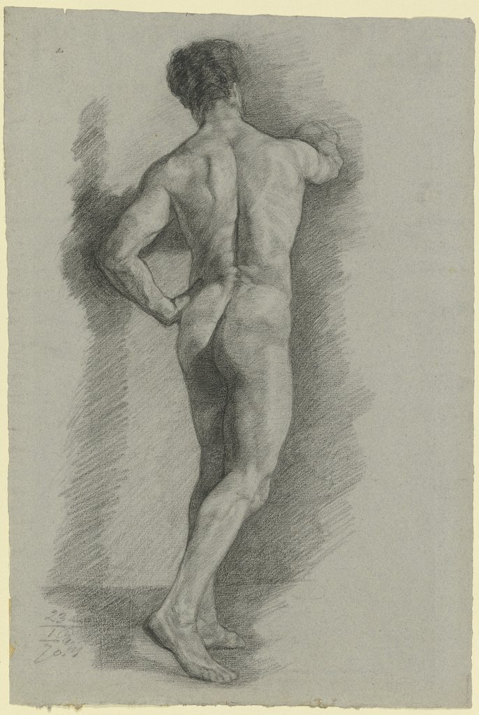 Male nude from behind, Louis Eysen