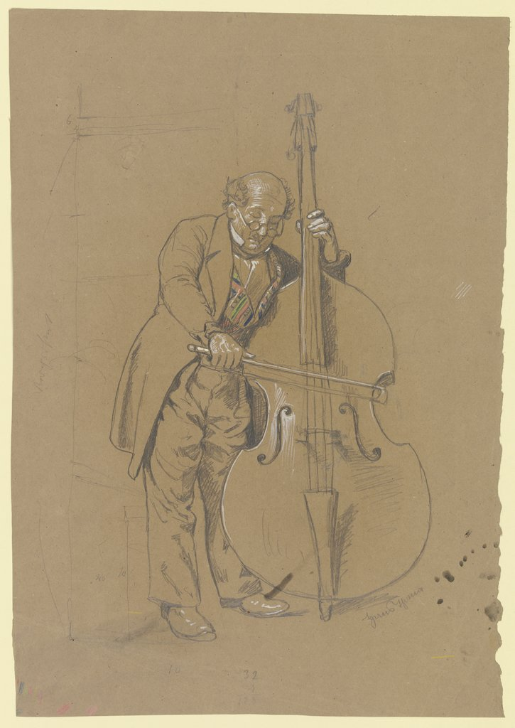 Double-bass player, Hans Thoma