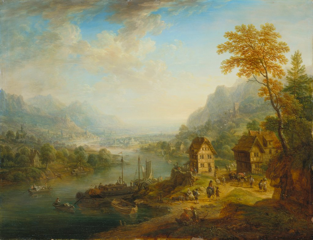 Landscape with River, Christian Georg Schütz the Elder