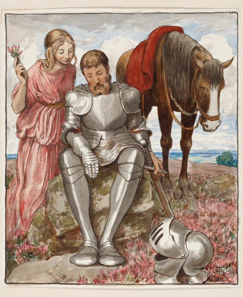 Erika and Seated Knight, Hans Thoma