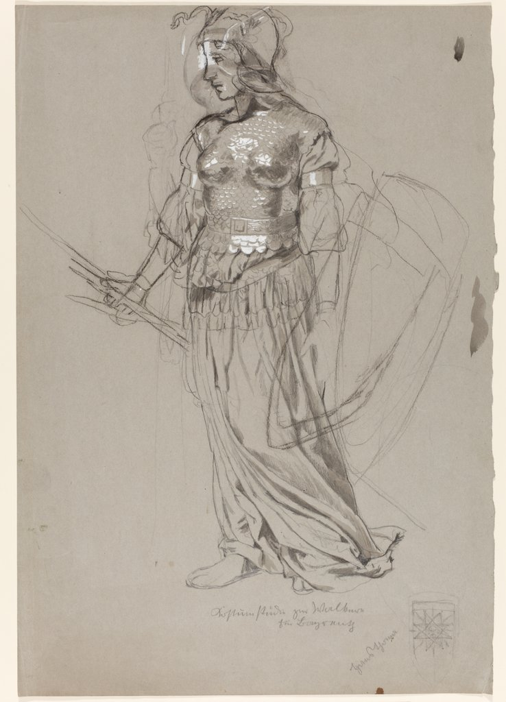Valkyrie (Costume Study for Bayreuth), Hans Thoma