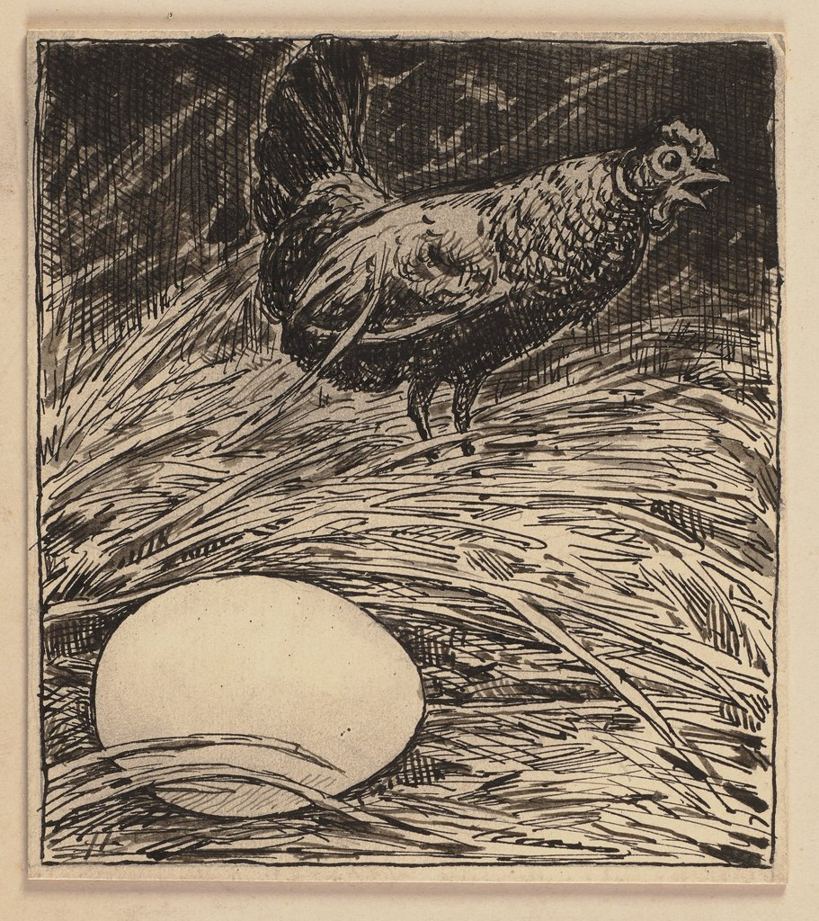 Drawing for the primer: egg, Hans Thoma