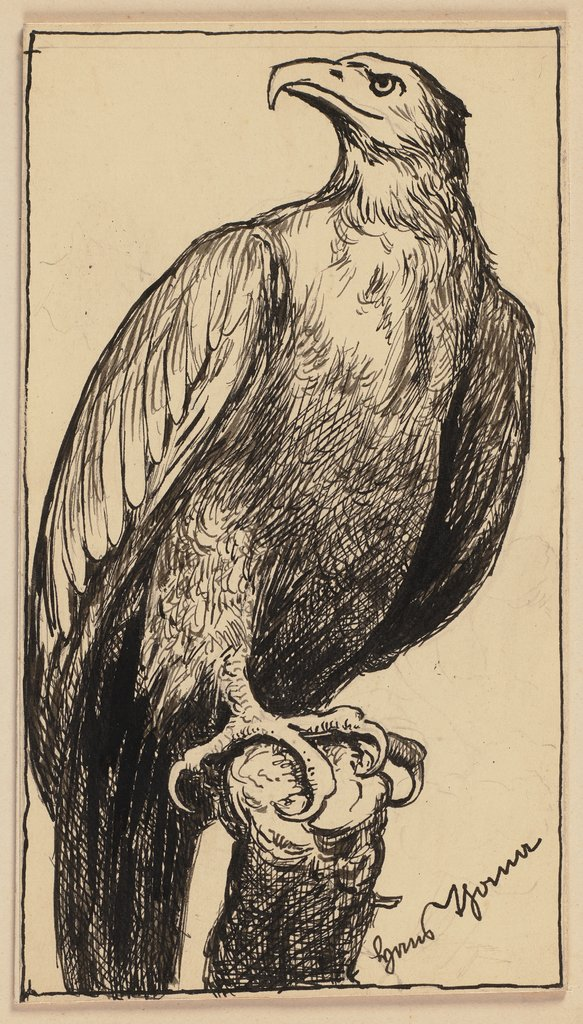 Drawing for the primer: Eagle, Hans Thoma