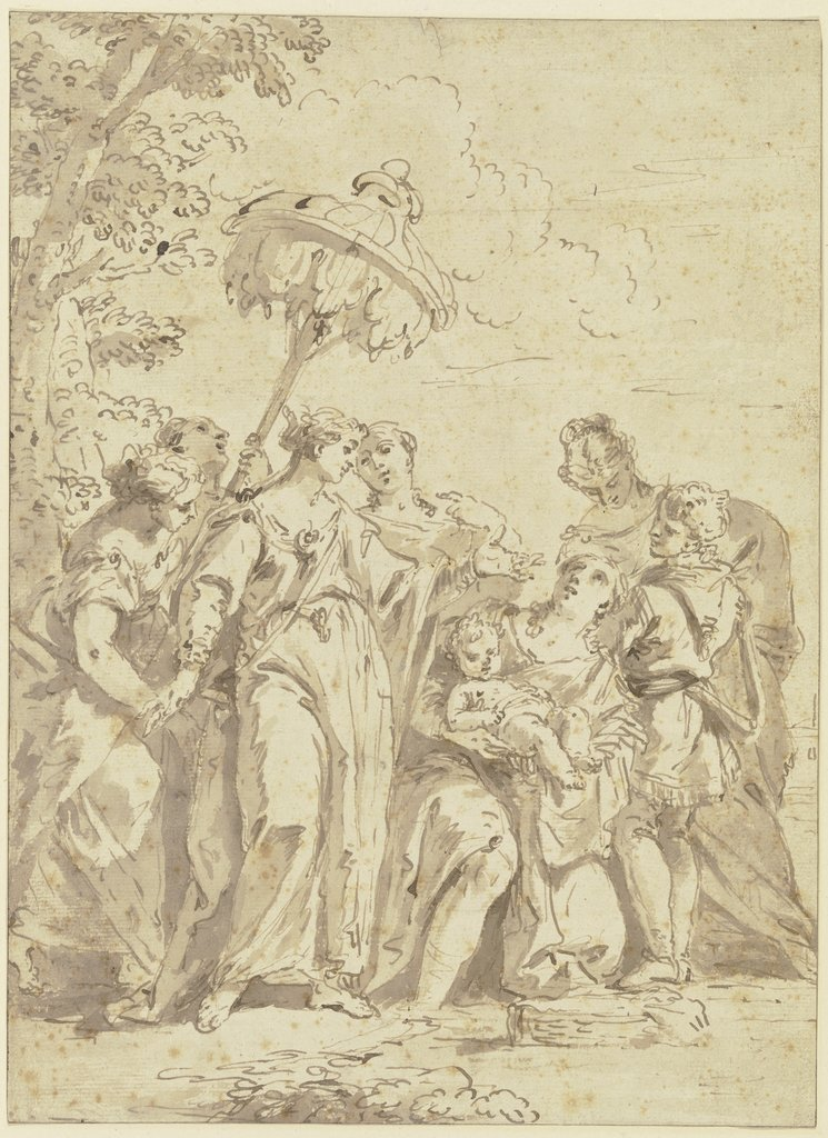 Finding of Moses, Italian, 18th century