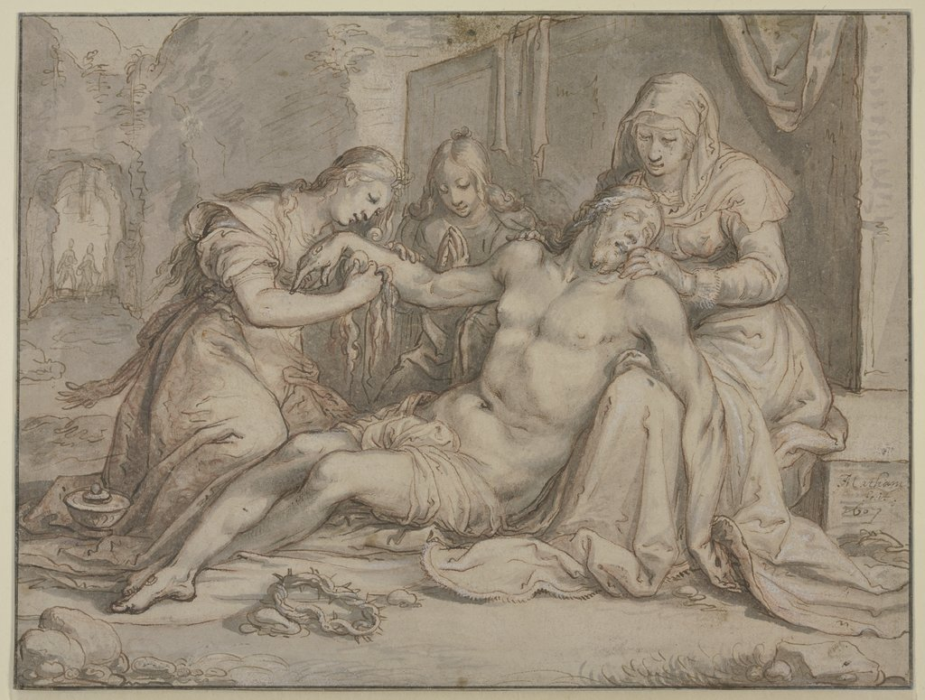 The Lamentation of Christ, Jacob Matham
