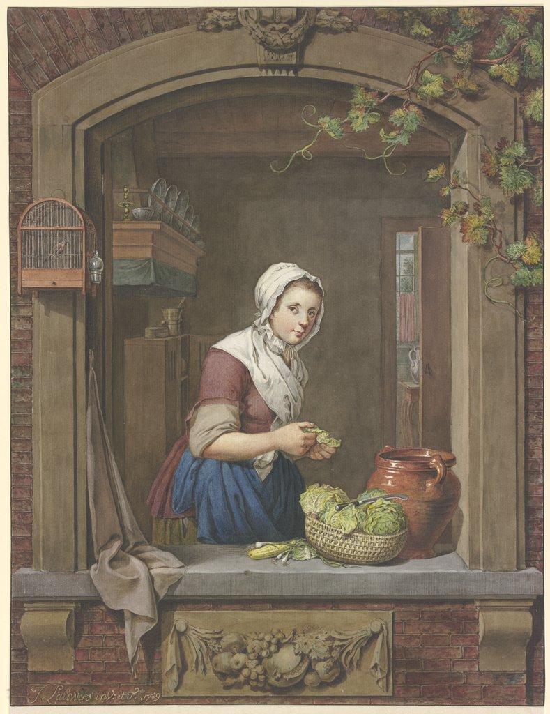 Kitchen girl, Jacobus Johannes Lauwers