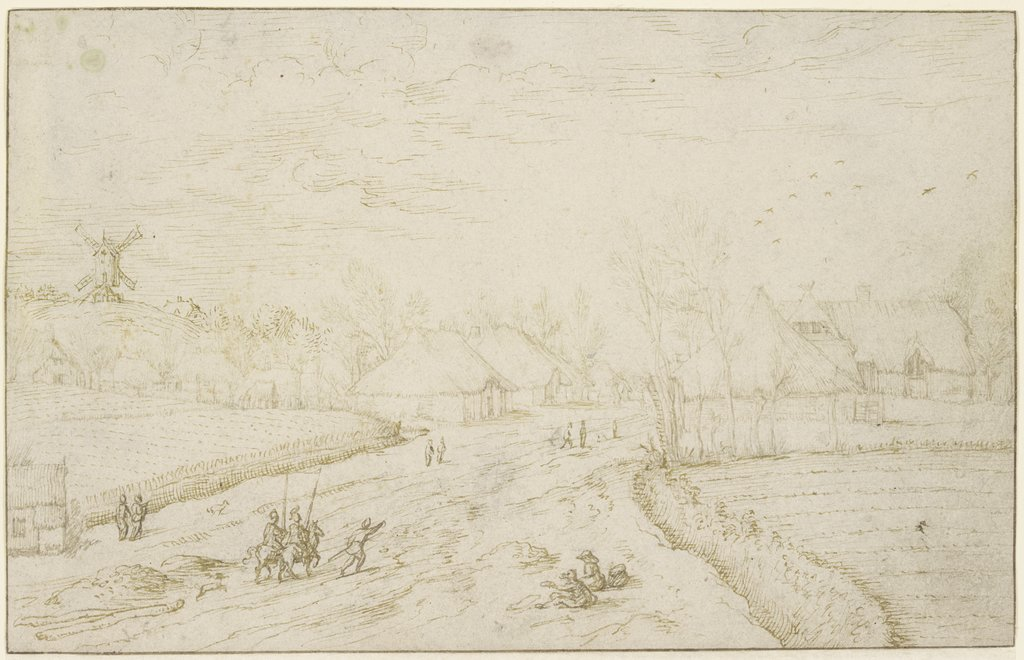 Path to a village, Master of the Small Landscapes, Josse van Liere   ?