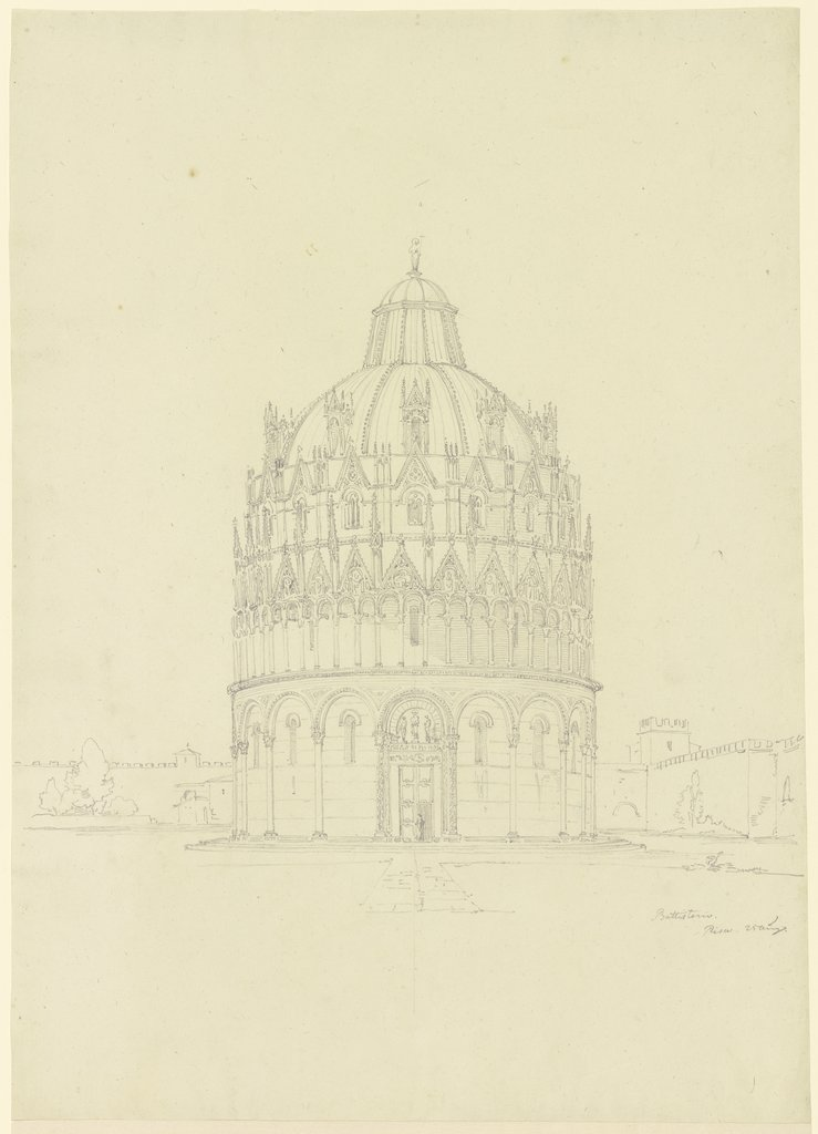 The Baptistery of Pisa, Friedrich Maximilian Hessemer