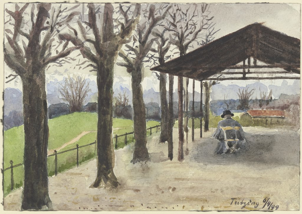 View from Tutzing, Fritz Hauck