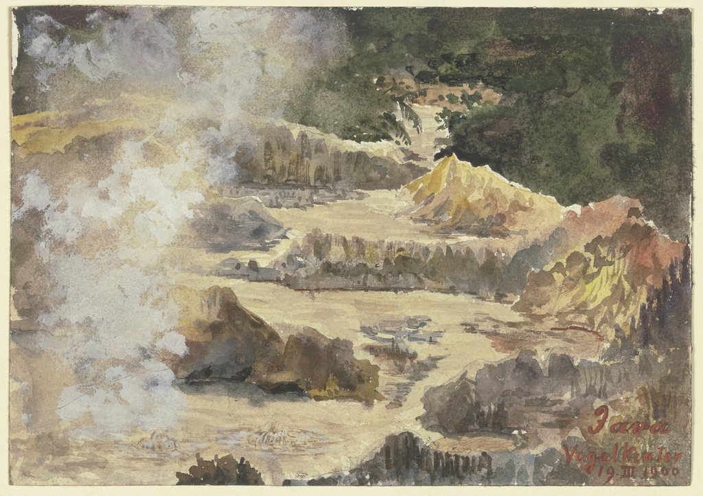 Bird crater on Java, Fritz Hauck